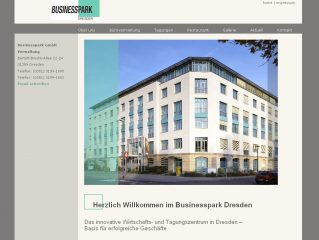 Relaunch: Internetseite Businesspark Dresden